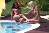 Nikky Blond Christina Bella Poolside Anal Threesome