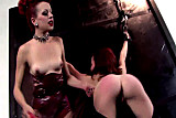 Hollis Ireland spanks Miss Crash in her dungeon