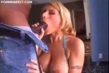 Blonde Big Tits Fucks Two Black Cocks